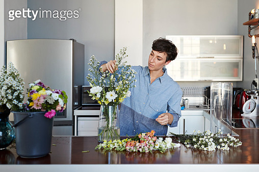 Young people working from home in stylish apartment - gettyimageskorea