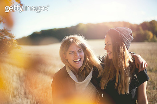 Smiling women together - gettyimageskorea