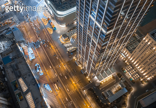 Aerial view of skyscrappers - gettyimageskorea