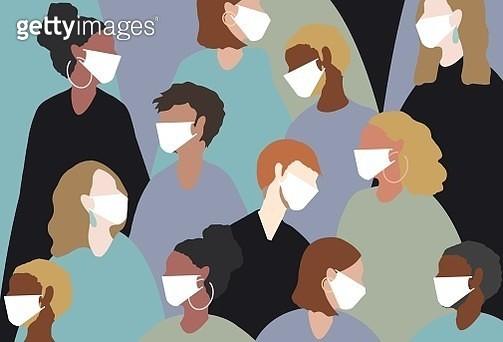 winter, virus, coronavirus, medical mask, face mask, china virus, group, people, women, man, sick, heat, people, hot - gettyimageskorea