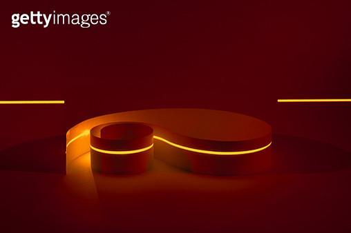 Laser Scanning Curved Paper Stripe - gettyimageskorea