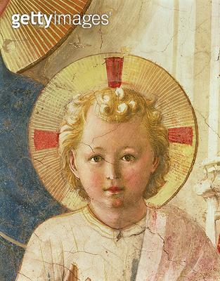 <b>Title</b> : Detail of the Christ Child from the Madonna delle Ombre (Madonna of the Shadows), 1450 (fresco)<br><b>Medium</b> : <br><b>Location</b> : Museo di San Marco dell'Angelico, Florence, Italy<br> - gettyimageskorea