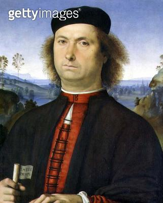 <b>Title</b> : Portrait of Francesco delle Opere, 1494 (oil on panel)<br><b>Medium</b> : oil on panel<br><b>Location</b> : Galleria degli Uffizi, Florence, Italy<br> - gettyimageskorea