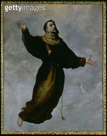 <b>Title</b> : Levitation of St. Francis (oil on canvas)<br><b>Medium</b> : oil on canvas<br><b>Location</b> : The Bowes Museum, Barnard Castle, County Durham, UK<br> - gettyimageskorea