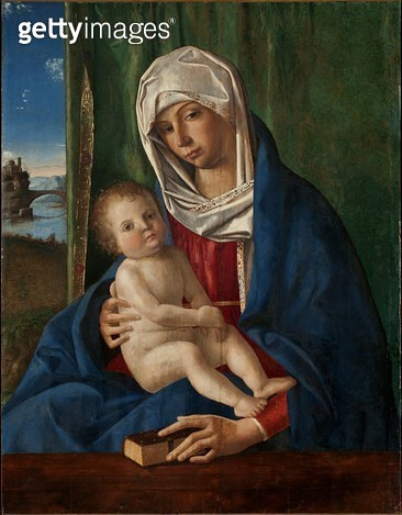 <b>Title</b> : The Virgin and Child (oil on panel)<br><b>Medium</b> : oil on panel<br><b>Location</b> : Worcester Art Museum, Massachusetts, USA<br> - gettyimageskorea