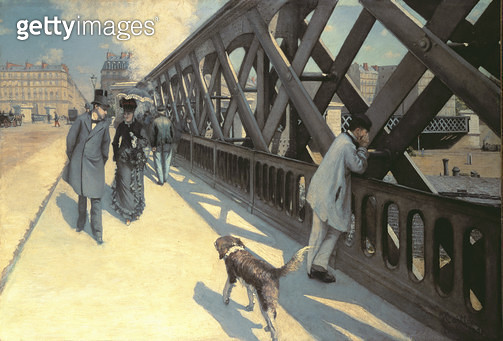 <b>Title</b> : Le Pont de L'Europe, 1876 (for detail see 82874)<br><b>Medium</b> : oil on canvas<br><b>Location</b> : Petit Palais, Geneva, Switzerland<br> - gettyimageskorea