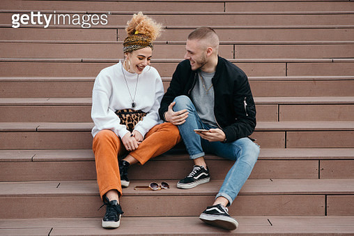 Young couple outdoors - gettyimageskorea