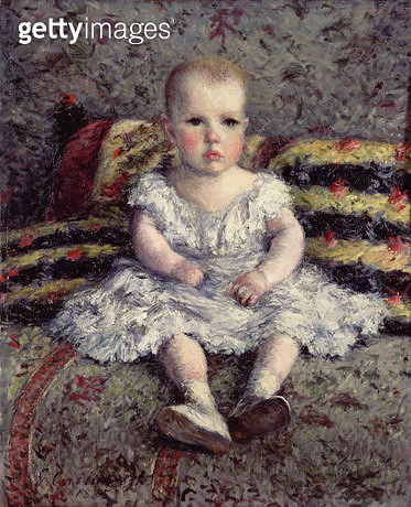 <b>Title</b> : Child on a sofa, 1885<br><b>Medium</b> : oil on canvas<br><b>Location</b> : Petit Palais, Geneva, Switzerland<br> - gettyimageskorea