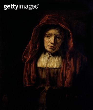 <b>Title</b> : Portrait of an Old Woman<br><b>Medium</b> : <br><b>Location</b> : Pushkin Museum, Moscow, Russia<br> - gettyimageskorea