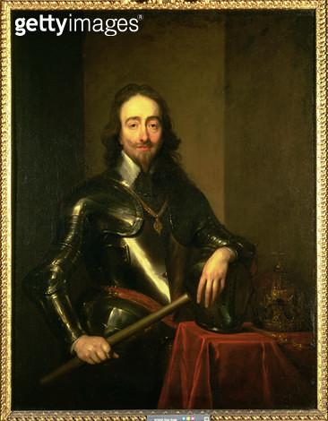 <b>Title</b> : Charles I (1600-49) (oil on canvas)<br><b>Medium</b> : oil on canvas<br><b>Location</b> : Collection of the Earl of Pembroke, Wilton House, Wilts.<br> - gettyimageskorea