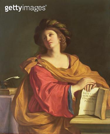 <b>Title</b> : Samian Sibyl, 1644 (oil on canvas)<br><b>Medium</b> : oil on canvas<br><b>Location</b> : Galleria degli Uffizi, Florence, Italy<br> - gettyimageskorea