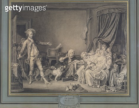 <b>Title</b> : The well-beloved mother, c.1770 (brush & grey ink wash with black chalk)<br><b>Medium</b> : brush and grey wash black chalk<br><b>Location</b> : Art Gallery of New South Wales, Sydney, Australia<br> - gettyimageskorea