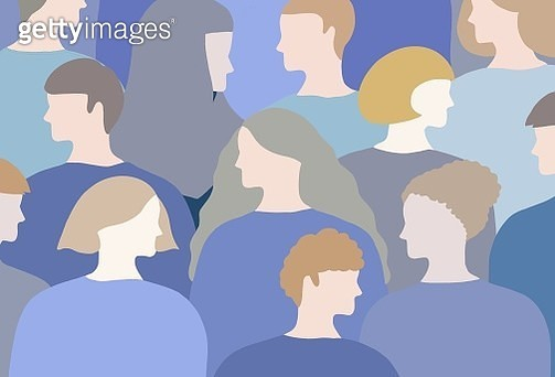 human, people, group of people, pastel colored, blue colored, human rights, community, back ground - gettyimageskorea