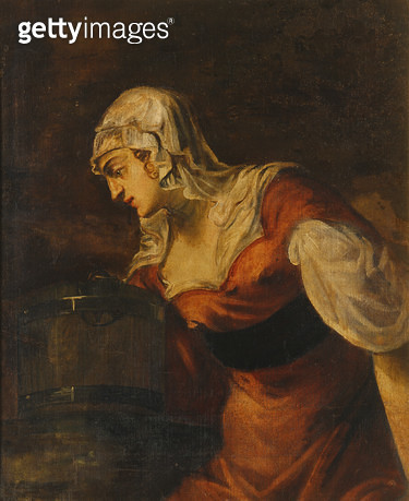 <b>Title</b> : The Woman of Samaria at the Well, c.1560 (oil on canvas) (see 50268)<br><b>Medium</b> : oil on canvas<br><b>Location</b> : Galleria degli Uffizi, Florence, Italy<br> - gettyimageskorea