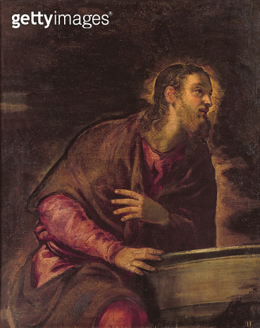 Christ at the Well/ c.1560 (oil on canvas) (see 50267) - gettyimageskorea