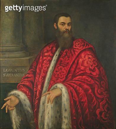 <b>Title</b> : Gentleman Facing to the Right, c.1553 (oil on canvas)<br><b>Medium</b> : oil on canvas<br><b>Location</b> : Galleria degli Uffizi, Florence, Italy<br> - gettyimageskorea