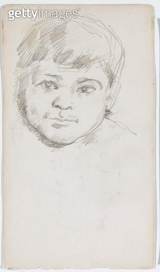 <b>Title</b> : Head of Paul Cezanne, the artist's son, 1880-83 (pencil on paper)<br><b>Medium</b> : pencil on paper<br><b>Location</b> : Art Gallery of New South Wales, Sydney, Australia<br> - gettyimageskorea