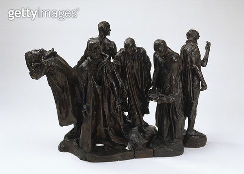 <b>Title</b> : Second maquette for the 'Burghers of Calais', 1972 (bronze)Additional Infomodelled in 1885; 4th August 1347 end of Siege; six of<br><b>Medium</b> : <br><b>Location</b> : Art Gallery of New South Wales, Sydney, Australia<br> - gettyimageskorea