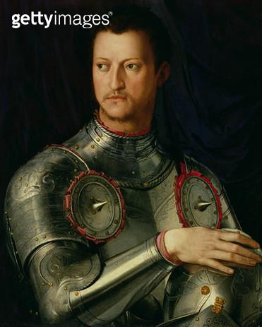 <b>Title</b> : Portrait of Cosimo I (1519-74) de Medici (tempera on panel)<br><b>Medium</b> : tempera on panel<br><b>Location</b> : Galleria degli Uffizi, Florence, Italy<br> - gettyimageskorea