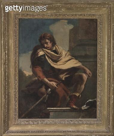 <b>Title</b> : Saint Roch (1295-1327), 1730-35 (oil on canvas)<br><b>Medium</b> : oil on canvas<br><b>Location</b> : Art Gallery of New South Wales, Sydney, Australia<br> - gettyimageskorea