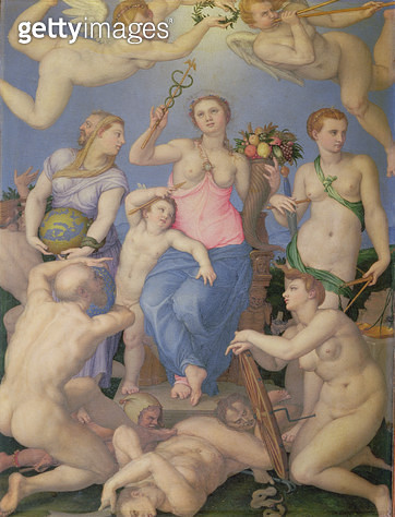<b>Title</b> : Allegory of Happiness, c.1567 (oil on copper)<br><b>Medium</b> : oil on copper<br><b>Location</b> : Galleria degli Uffizi, Florence, Italy<br> - gettyimageskorea