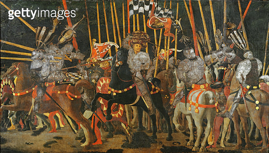 <b>Title</b> : The Battle of San Romano in 1432, c.1456 (oil on panel)<br><b>Medium</b> : oil on panel<br><b>Location</b> : Louvre, Paris, France<br> - gettyimageskorea