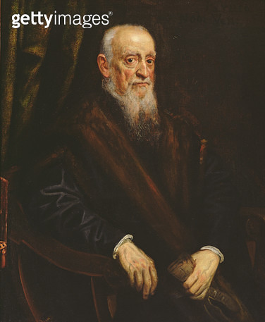 <b>Title</b> : Portrait of an Elderly Gentleman, c.1575 (oil on canvas)<br><b>Medium</b> : oil on canvas<br><b>Location</b> : Leighton House Museum, Kensington & Chelsea, London, UK<br> - gettyimageskorea
