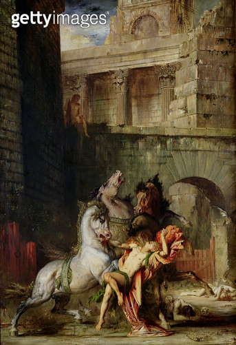 <b>Title</b> : Diomedes Being Eaten by his Horses, 1865 (oil on canvas)Additional InfoDiomede devore par ses chevaux;<br><b>Medium</b> : oil on canvas<br><b>Location</b> : Musee des Beaux-Arts, Rouen, France<br> - gettyimageskorea
