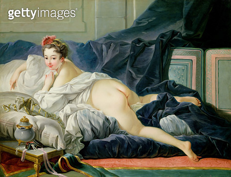 <b>Title</b> : The Odalisque, 1749 (oil on canvas)Additional Infonot the same as 26229;<br><b>Medium</b> : oil on canvas<br><b>Location</b> : Private Collection<br> - gettyimageskorea