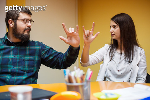 Learning sign language - gettyimageskorea
