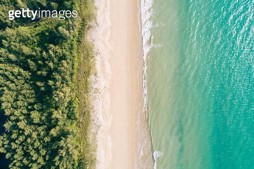 Aerial view sand beach - gettyimageskorea