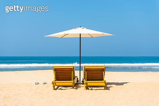 Idyllic beach scene - gettyimageskorea