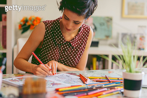 Adult Coloring Books - gettyimageskorea