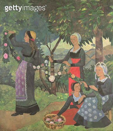 <b>Title</b> : The Garland of Roses, c.1898<br><b>Medium</b> : oil on canvas<br><b>Location</b> : Petit Palais, Geneva, Switzerland<br> - gettyimageskorea