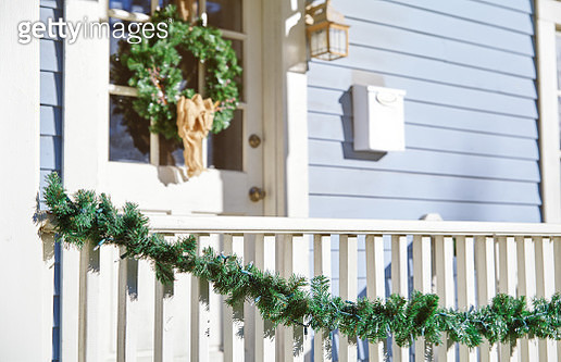 House decorated with Christmas ornament - gettyimageskorea