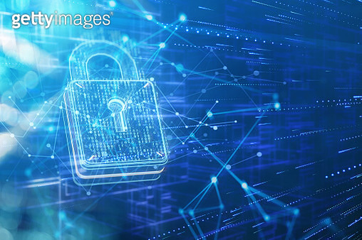 Security padlock and network data - gettyimageskorea