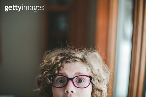 Close up of silly little girl - gettyimageskorea
