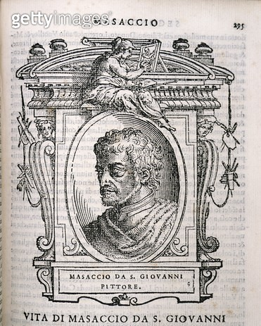 <b>Title</b> : Portrait of Tomaso Masaccio (1401-28) from Vasari's 'Lives of the<br><b>Medium</b> : <br><b>Location</b> : Private Collection<br> - gettyimageskorea