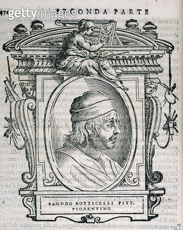 <b>Title</b> : Portrait of Sandro Botticelli (1444/5-1510) from Vasari's 'Lives of the<br><b>Medium</b> : <br><b>Location</b> : Private Collection<br> - gettyimageskorea
