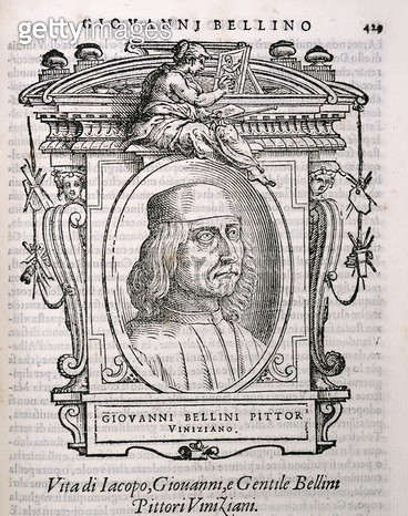 <b>Title</b> : Portrait of Giovanni Bellini (c.1431-1516) from Vasari's 'Lives of the<br><b>Medium</b> : <br><b>Location</b> : Private Collection<br> - gettyimageskorea