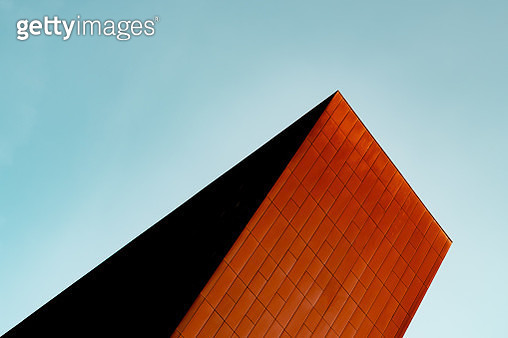 Low Angle View Of Building Against Clear Blue Sky - gettyimageskorea