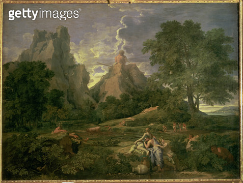 <b>Title</b> : Landscape with Polyphemus, 1649 (oil on canvas)Additional Infosubject from Ovid's Metamorphosis; Polyphemus expresses his love f<br><b>Medium</b> : oil on canvas<br><b>Location</b> : Hermitage, St. Petersburg, Russia<br> - gettyimageskorea