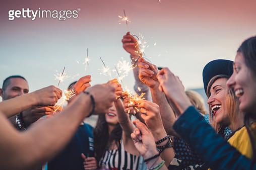 Friends celebrating New Year - gettyimageskorea