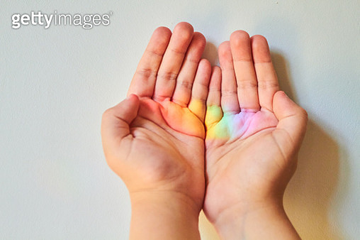 Close-up of child's hand - gettyimageskorea