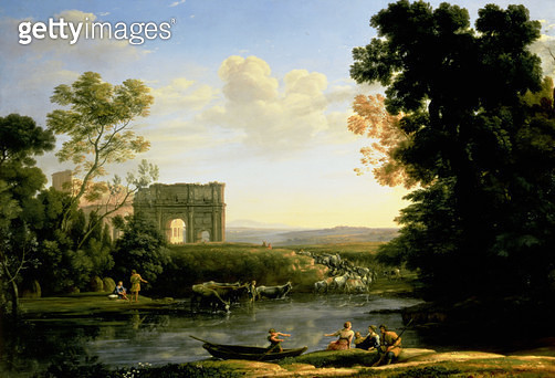 Pastoral Capriccio with the Arch of Constantinople - gettyimageskorea