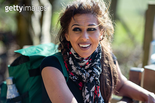 Portrait of a Happy Hiker - gettyimageskorea
