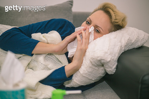 Sick Woman.Flu.Woman Caught Cold. - gettyimageskorea