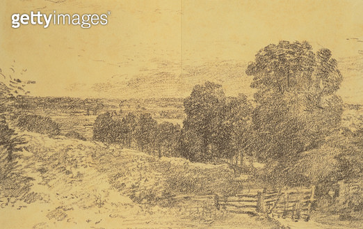 Sketch for the Painting Entrance to Fen Lane - gettyimageskorea