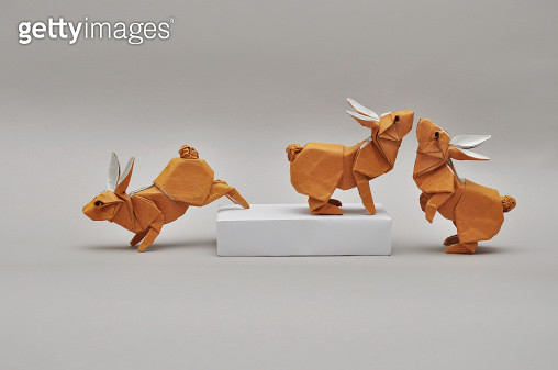 Origami Rabbits - gettyimageskorea