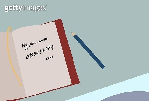 flay-lay, memo, pencil, number, note, notebook, making tape, tape, schedule, schedule book, letter, book, massage - gettyimageskorea